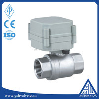 mini 12v dc stainless steel ball valve