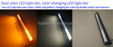 High intensity 180W 31.5inch dual color led light bar, white and amber dual color led light bar