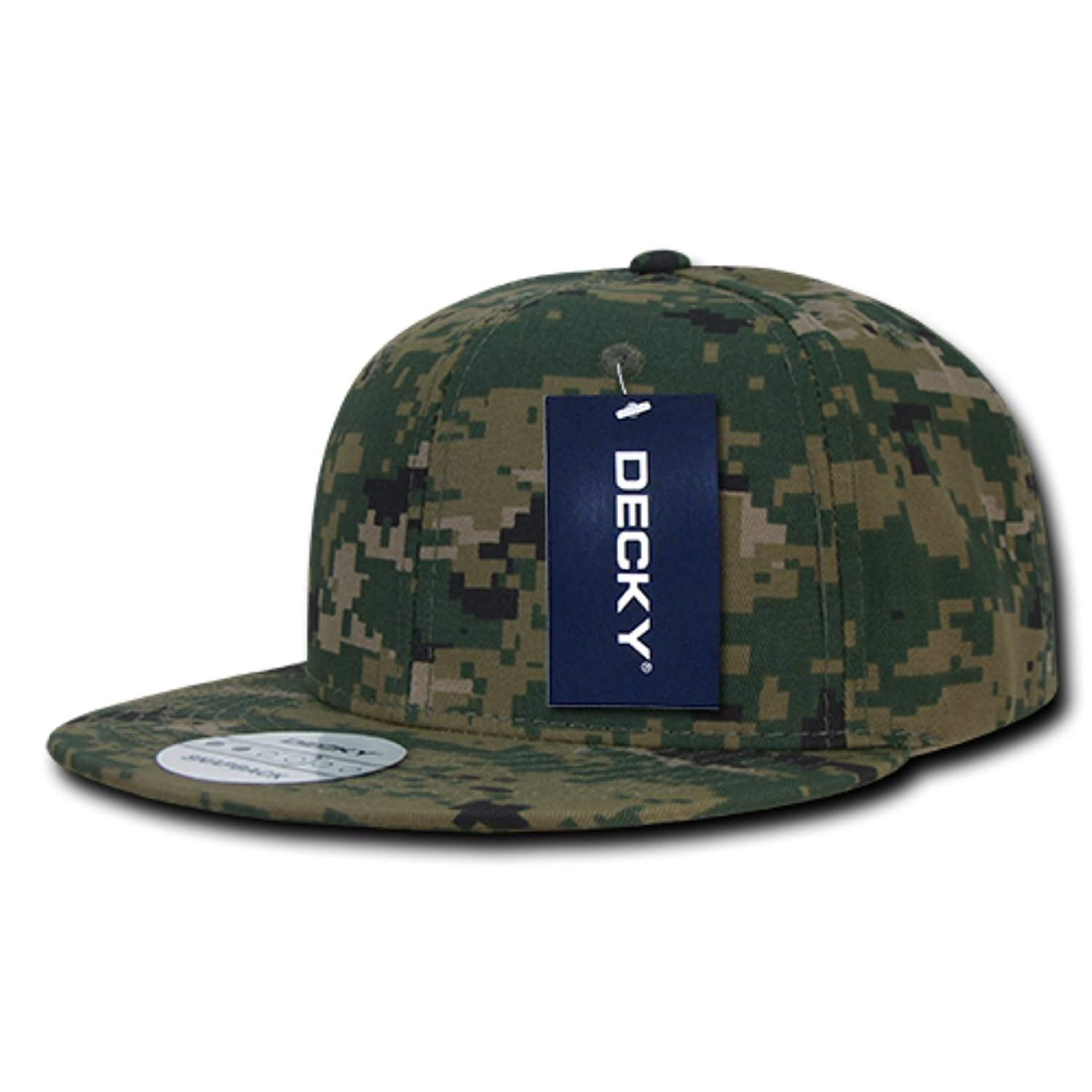 Buy DECKY Digital Camo Retro Flat Bill High Crown 6 Panel Snapback ... fc8eb7f4417