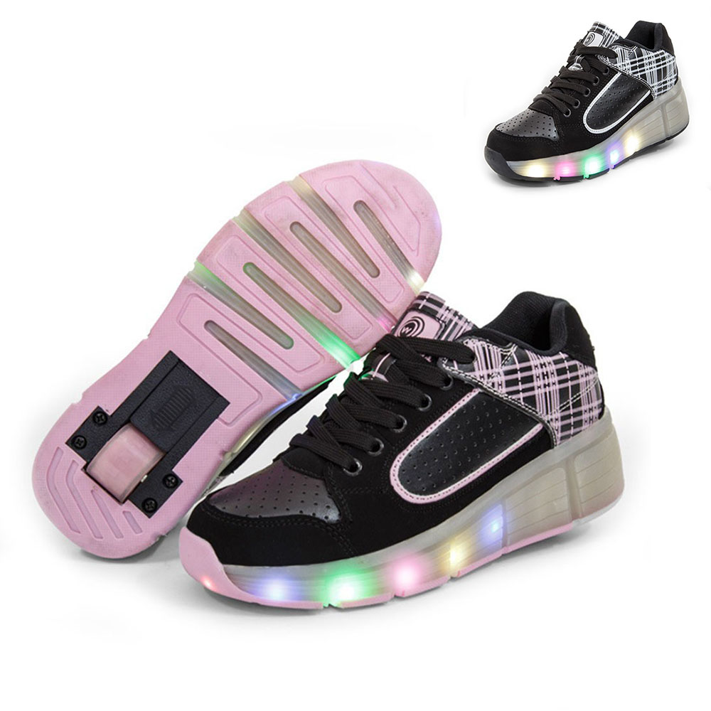 New summer Kids Heelys Breathable Shoes with Wheels Children Roller Skates Shoes Wheelys Sneakers for Boy