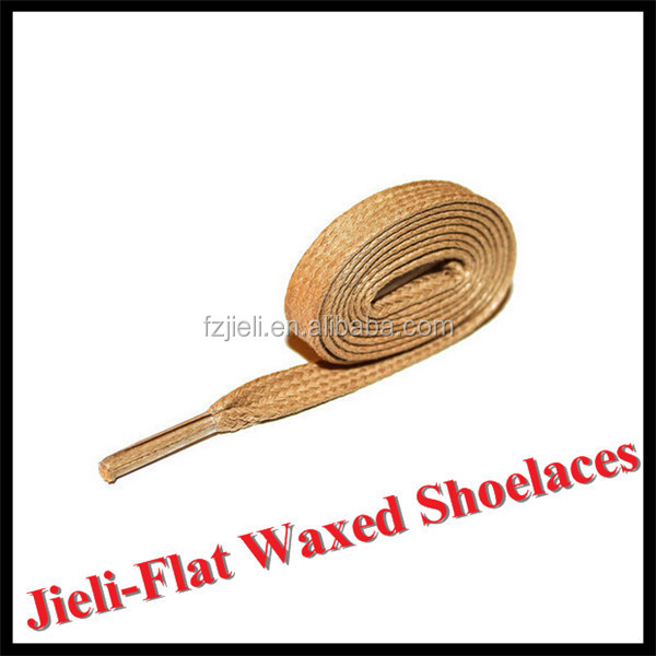 Jieli original factory waxed cotton leather boot shoelaces with customized all kind of colors