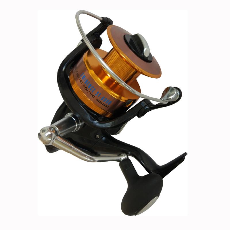 Spinning Sea Fishing Reel Aluminum Spool 5000 6000 Saltwater, Gold