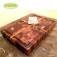 solid wood end grain walnut cutting board /100% wooden chopping board oak / maple /teak