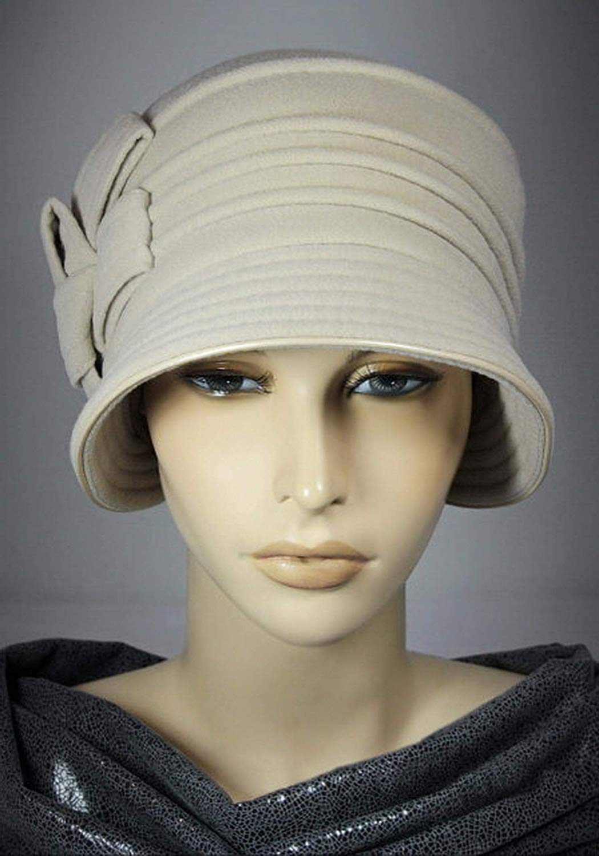 947c7f34640847 Get Quotations · Women's Cloche Hat made of Cashmere, Victoria - Cloche Hat,  Vintage Cloche Hat,