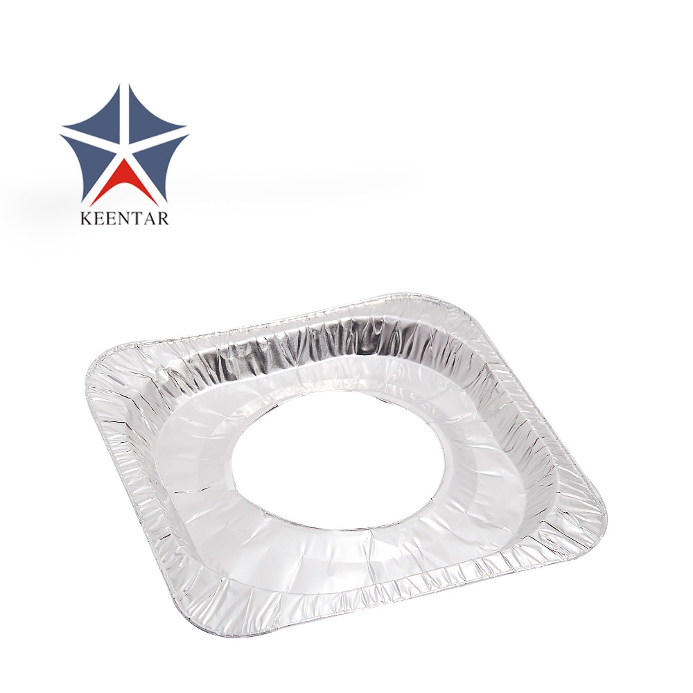 Disposable square aluminum foil Burner Mat