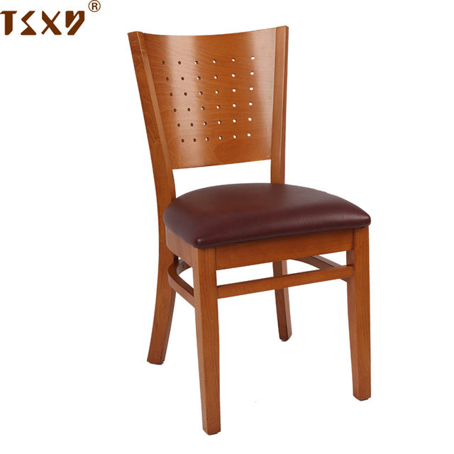 Japanese style dining room furniture solid walnut color wood dining chair