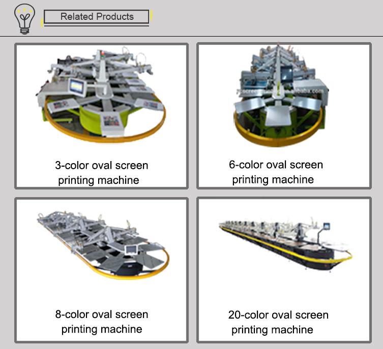 10Color36Stations Automatische Ovale Zijde ScreenPrintingMachine voor textieldruk
