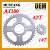 for Suzuki AX100 Motorcycle Parts Moped Rear Wheel Sprocket