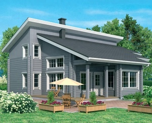 wood material building fast installation 4 bedrooms log material prefab houses for a big family