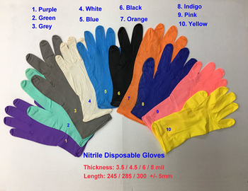 Nitrile Disposable Gloves, different thickness
