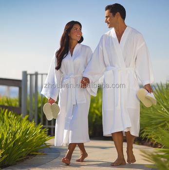 100 Cotton Hotel White Bathrobe Luxury Towelling Dressing Gown Buy