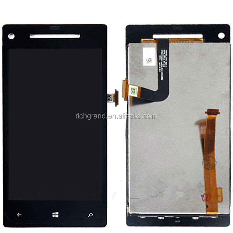 LCD display + touch screen digitizer assembly for HTC Windows Phone 8X black