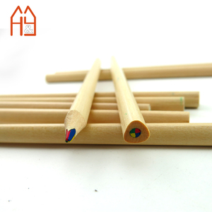 Big triangle shape 4 in 1 rainbow lead color pencils