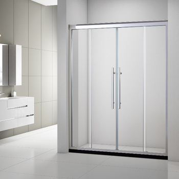 8mm Frosted Tempered Glass Sliding Shower Door With Aluminum Alloy