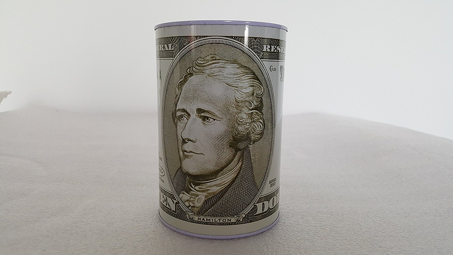 "10 Dollar bill tin money bank, bank note tin metal money box, money box, Coin Bank. 5"" x 3"""
