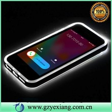 hot sale led flash light up phone case for samsung galaxy s4 pc tpu hybrid cover case