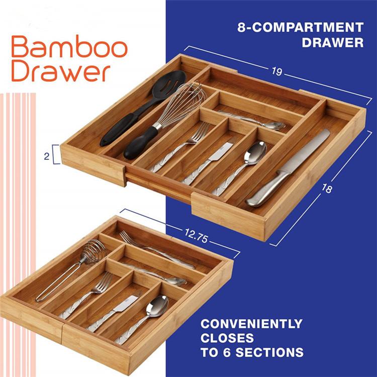 Oganic-Bamboo-Wood-Adjustable-Cutlery-Tray