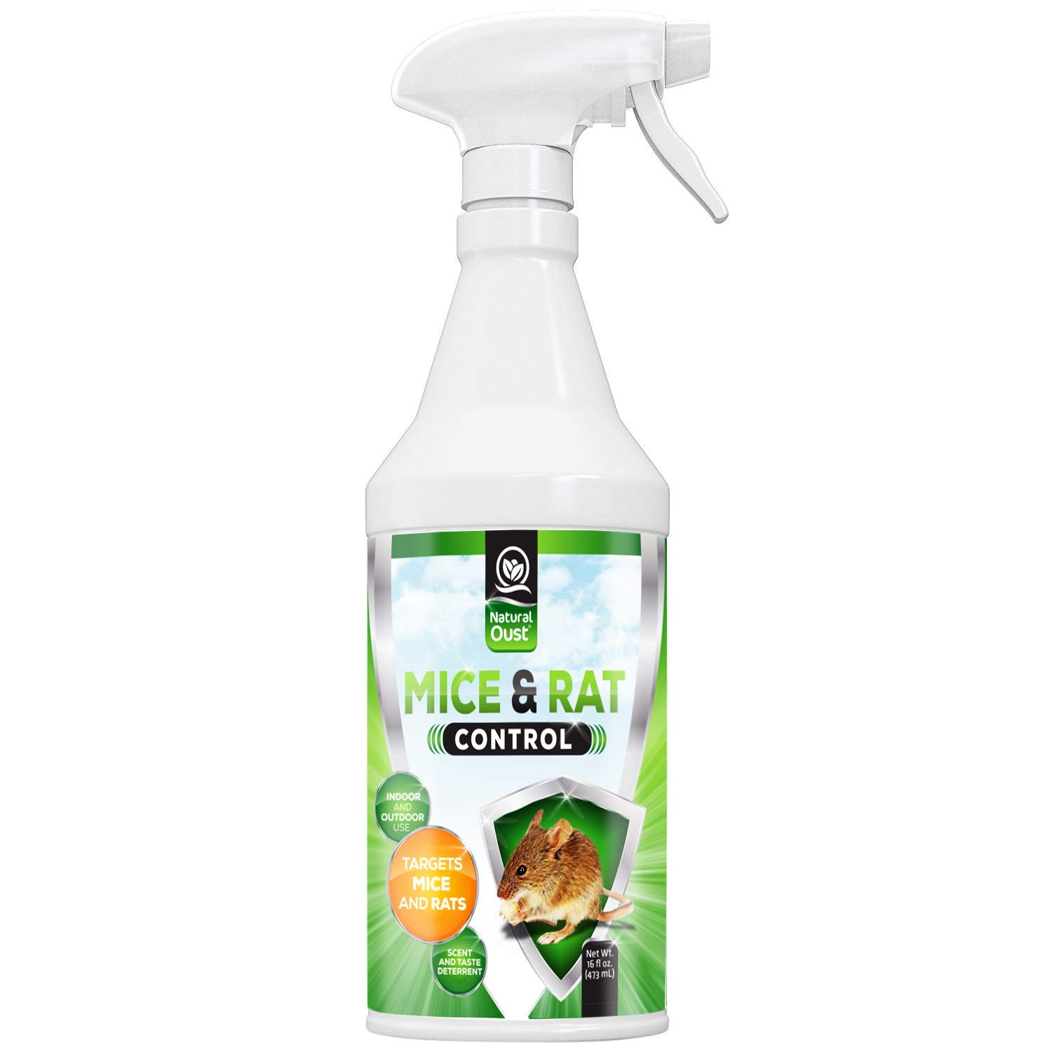 Peppermint Mice Repellent Spray - All Natural Essential Oil Mouse Formula - Deters All Types of Mice, Rats and Small Rodents