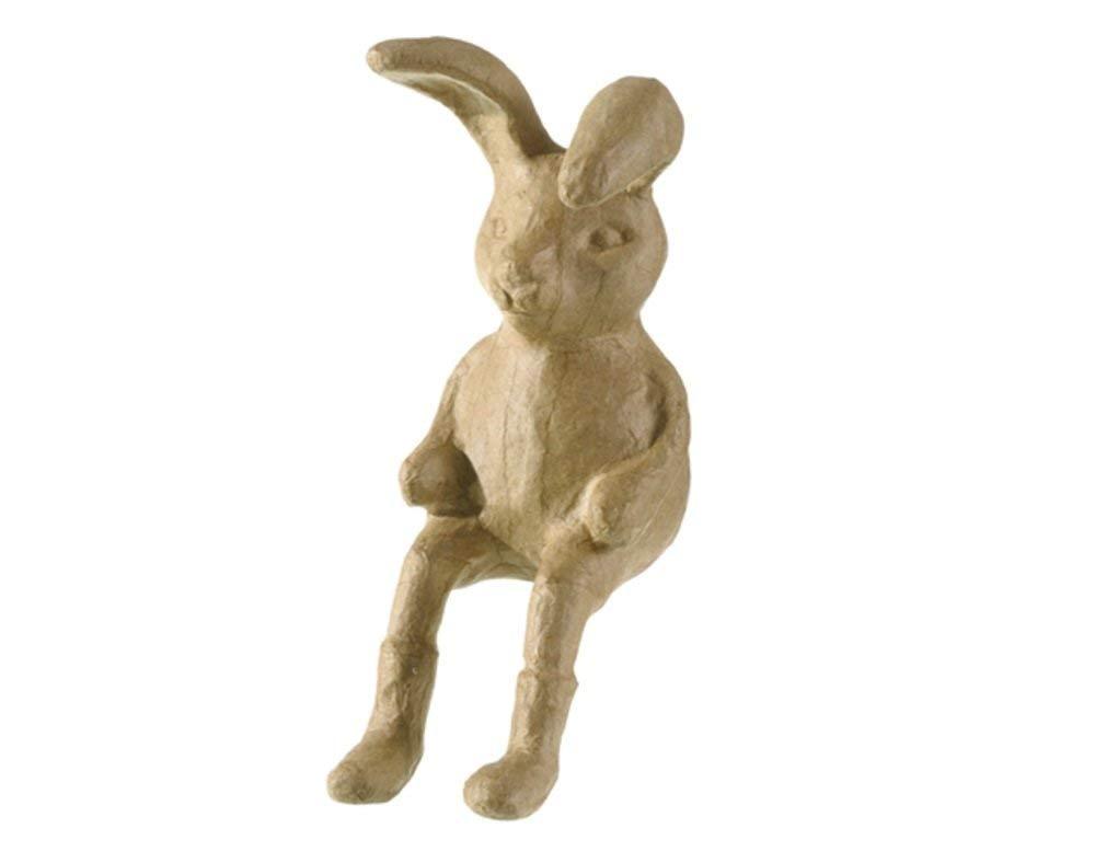Paper Mache Sitting Easter Bunny Rabbit - 25cm | Papier Mache Shapes