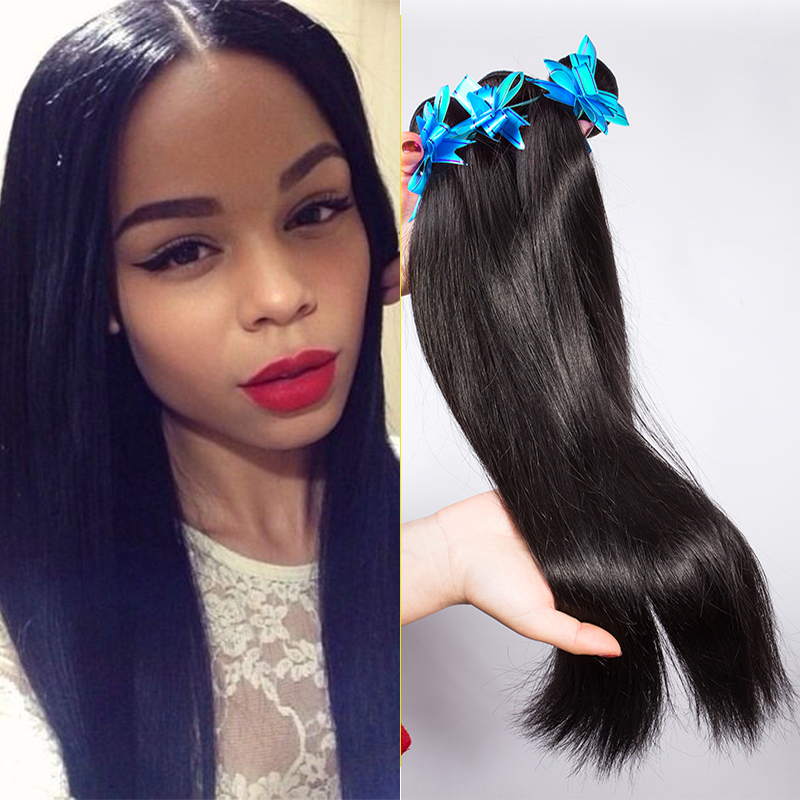 Brazilian Virgin Hair Straight 3 Bundles Remy Queen Hair Products 100 Unprocessed Human Hair Bundles Jet