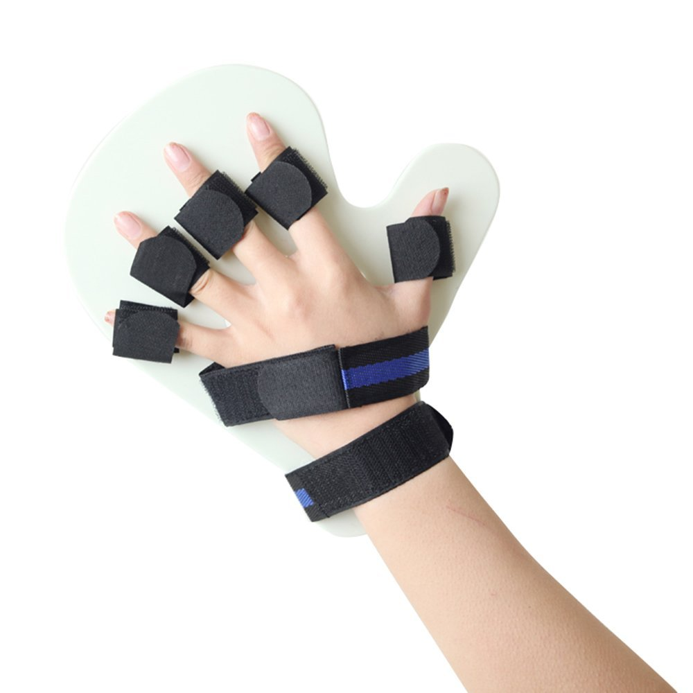 Finger Training Brace, XIIYY Finger Splint Fingerboard Finger Separator Orthotics Points Hand Wrist Training Orthosis Device Brace Support Flex Spasm Extension Board Splint Apoplexy Hemiplegia