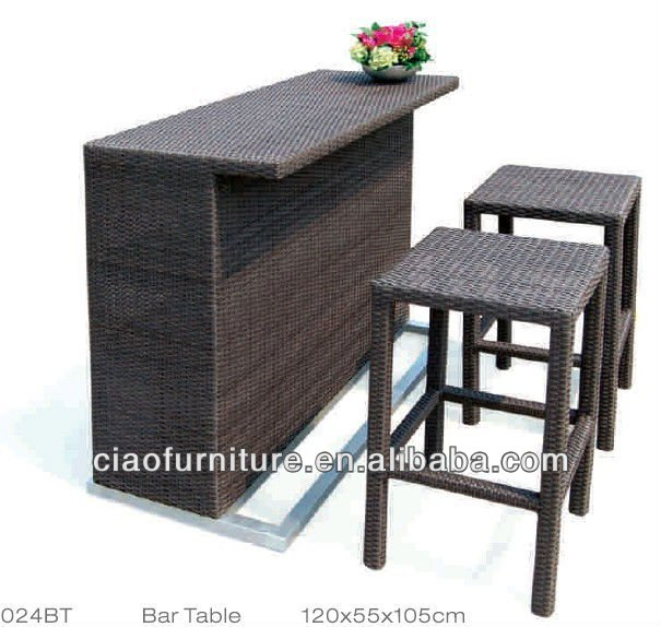 vente chaude en plein air patio bar meubles plage bar meubles lots de meubles en osier rotin id. Black Bedroom Furniture Sets. Home Design Ideas