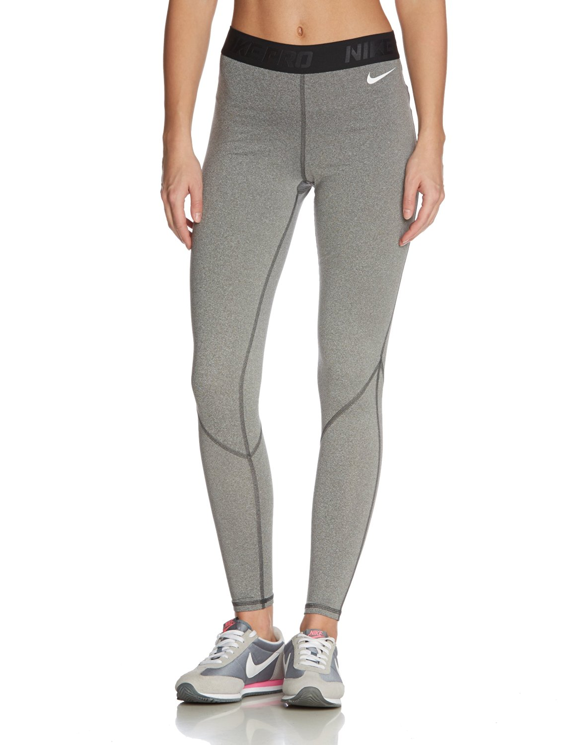 93f4b01eb4ebc Buy Nike Womens Pro Hyperwarm Dri-FIT Tights-Capri- Heather Grey [L ...