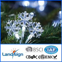 decorative solar led light snowflake waterproof outdoor light