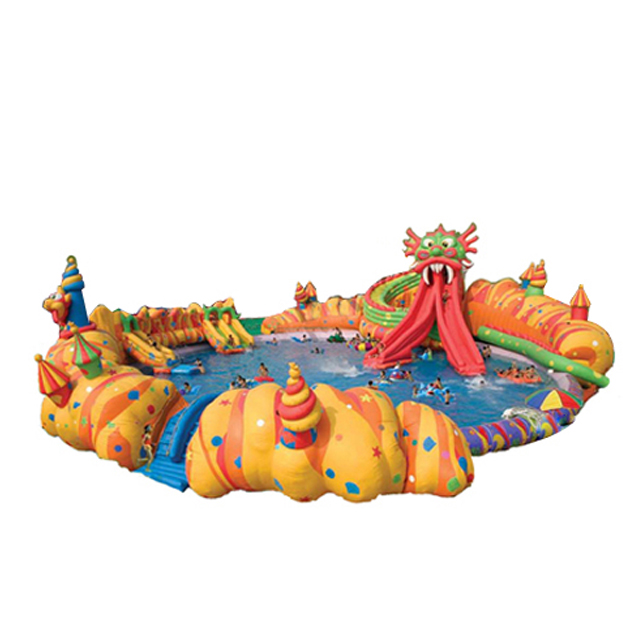 Most popular inflatable water park inflatable water slide and pool A9041
