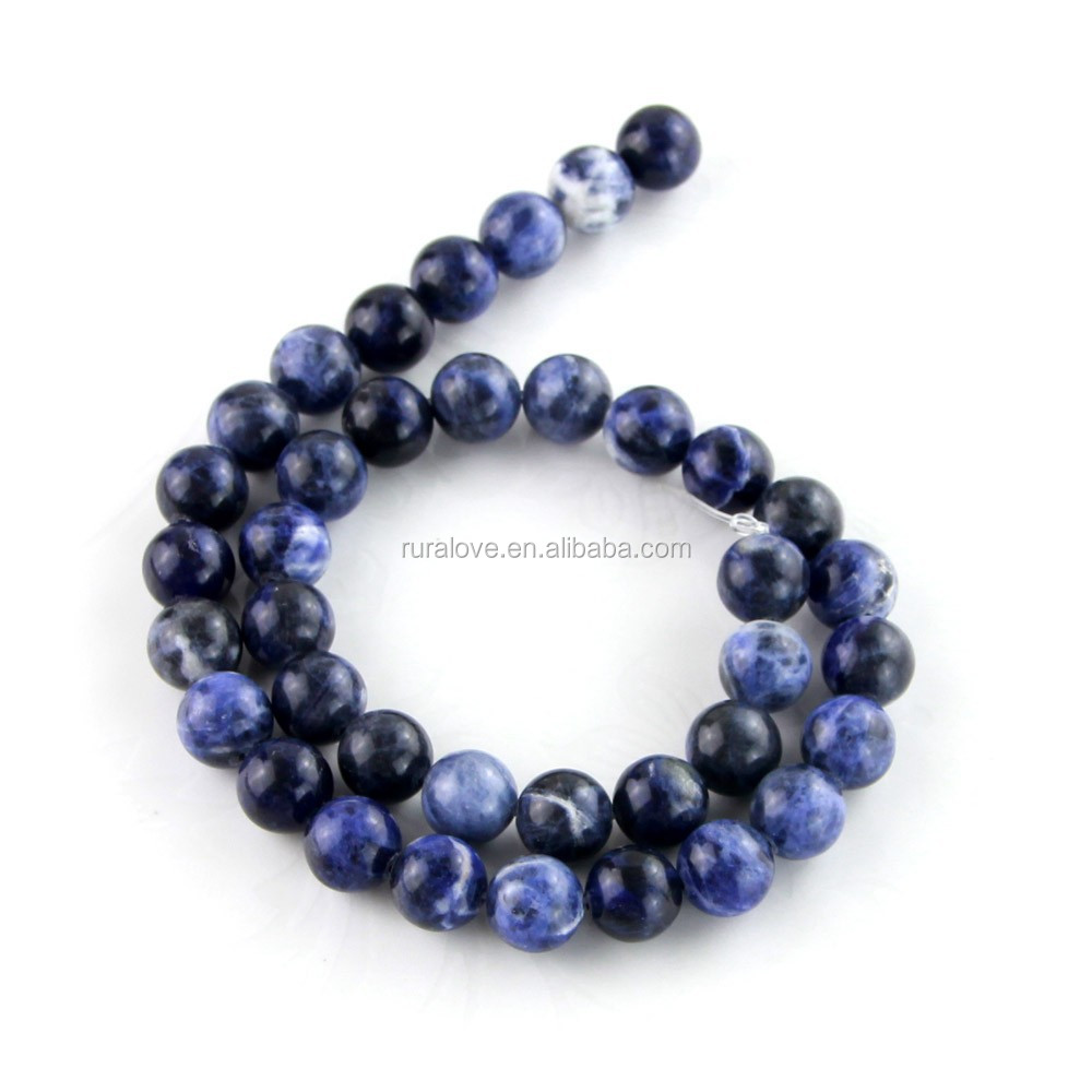 High quality natural round beads Sodalite