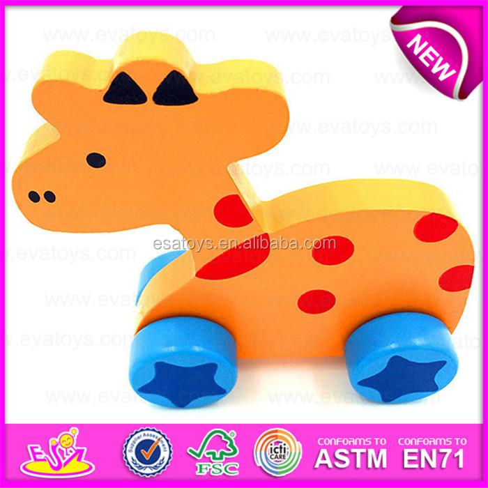 Wooden Pull Line Sea Lion cart toy for baby,Kids Funny Play Wooden Sea Lion Pull Along Cart Toy for Toddler W05B108