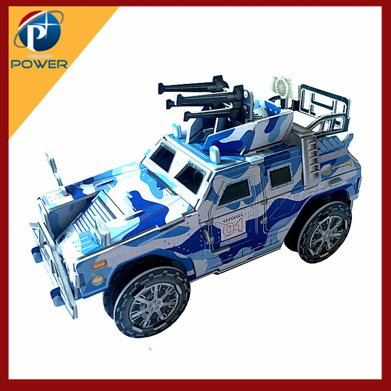 3D Puzzle Children DIY Puzzle Car Model Assembled Thickened Paper Intelligence Toys
