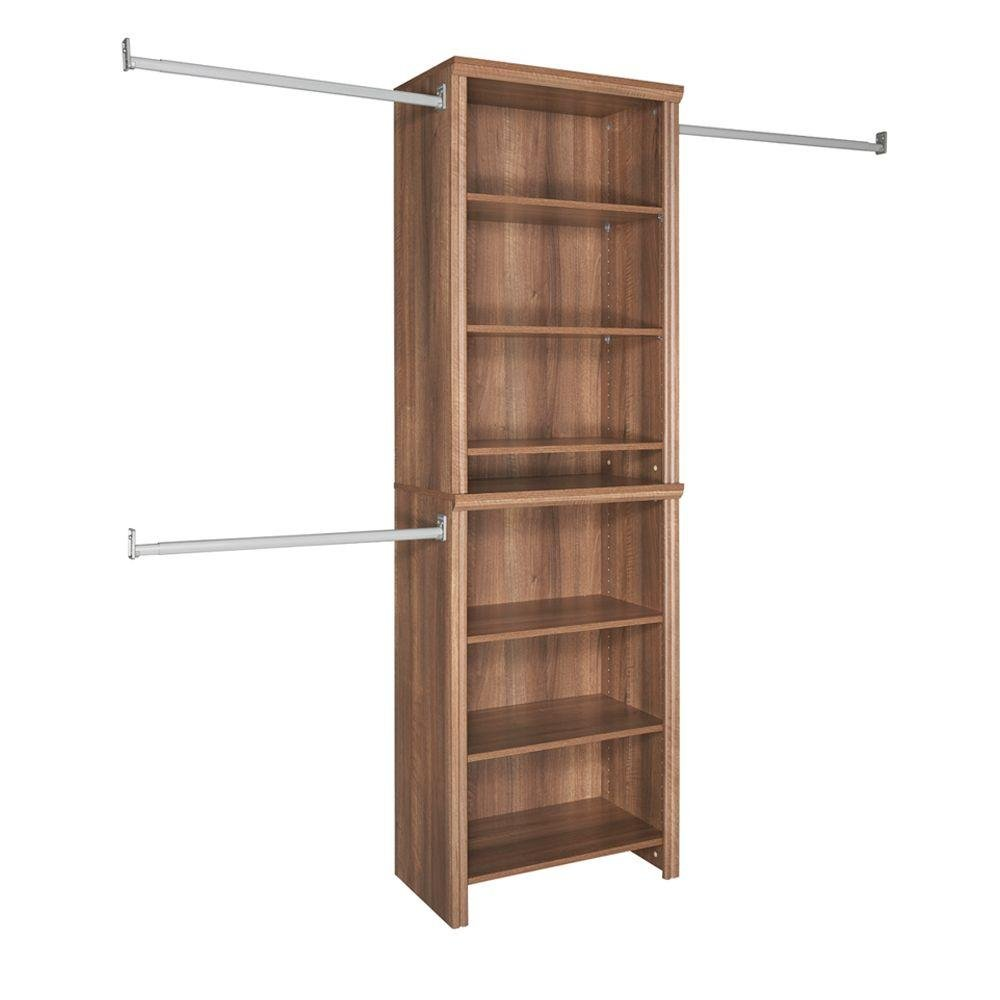 Get Quotations · Closetmaid Impressions 25 In. Walnut Standard Closet Kit
