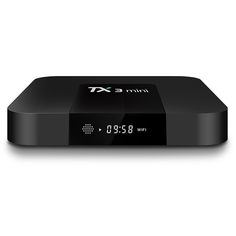 2018 Smart Android 7.1 TV BOX Amlogic S905W Quad Core Support H.265 4K 2.4GHz WiFi Media Player IPTV Box TX3 mini 1GB 8GB