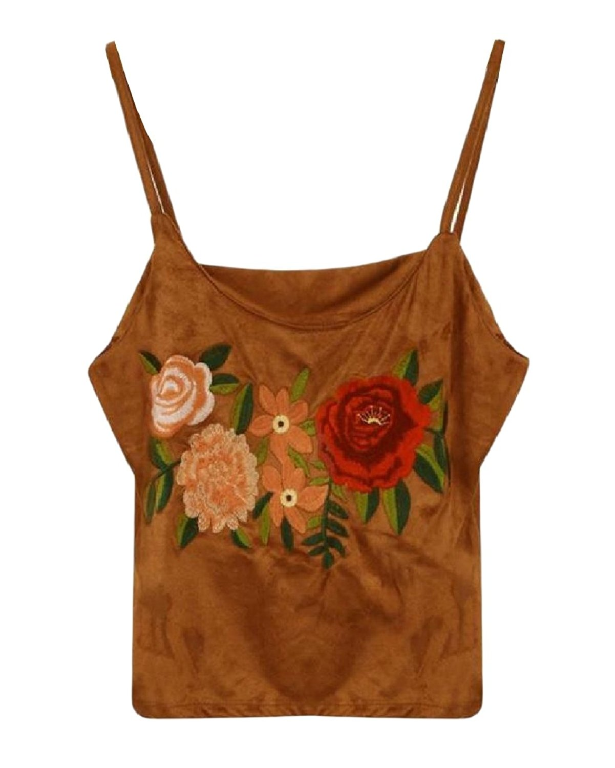 Zimaes-Women Embroidered All-Match Relaxed Sexy Fashion Tank Top Shirts