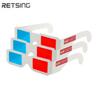 Red Cyan Blue Paper 3D Glasses Anaglyph White Eye Glasses