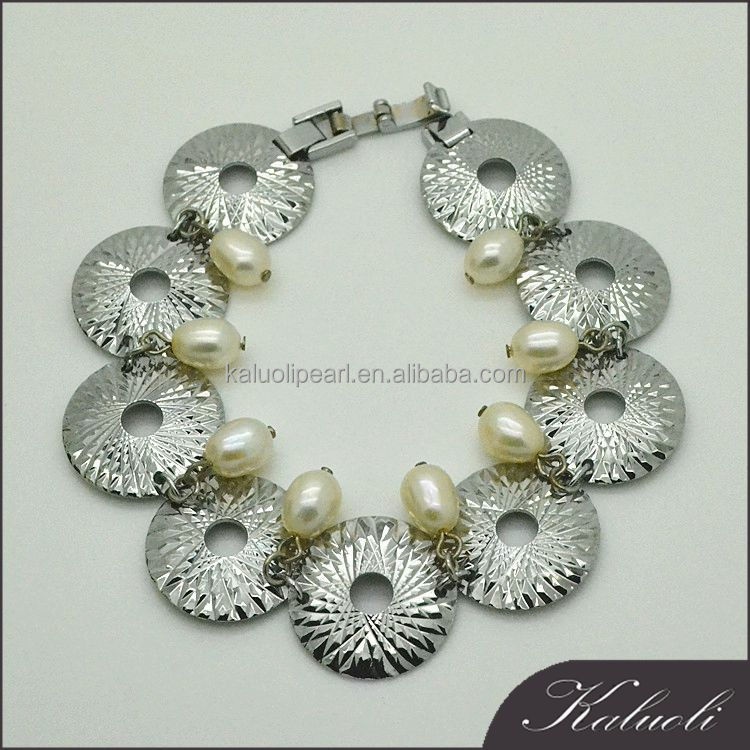 Bohemia style unique pearl jewelry bracelet chunky bangle bulk