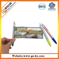 Promotional pen with pull out paper of printing