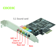 PCI-E 5.1ch 6channels CMI 8738 Sound card CMI8738 chip PCI-E 5.1 stereo audio card High Quality