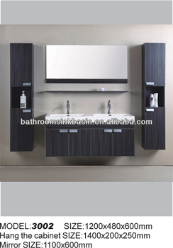 Zebra Wood Bathroom Vanity Floating Cabinet Vanities Solid 36