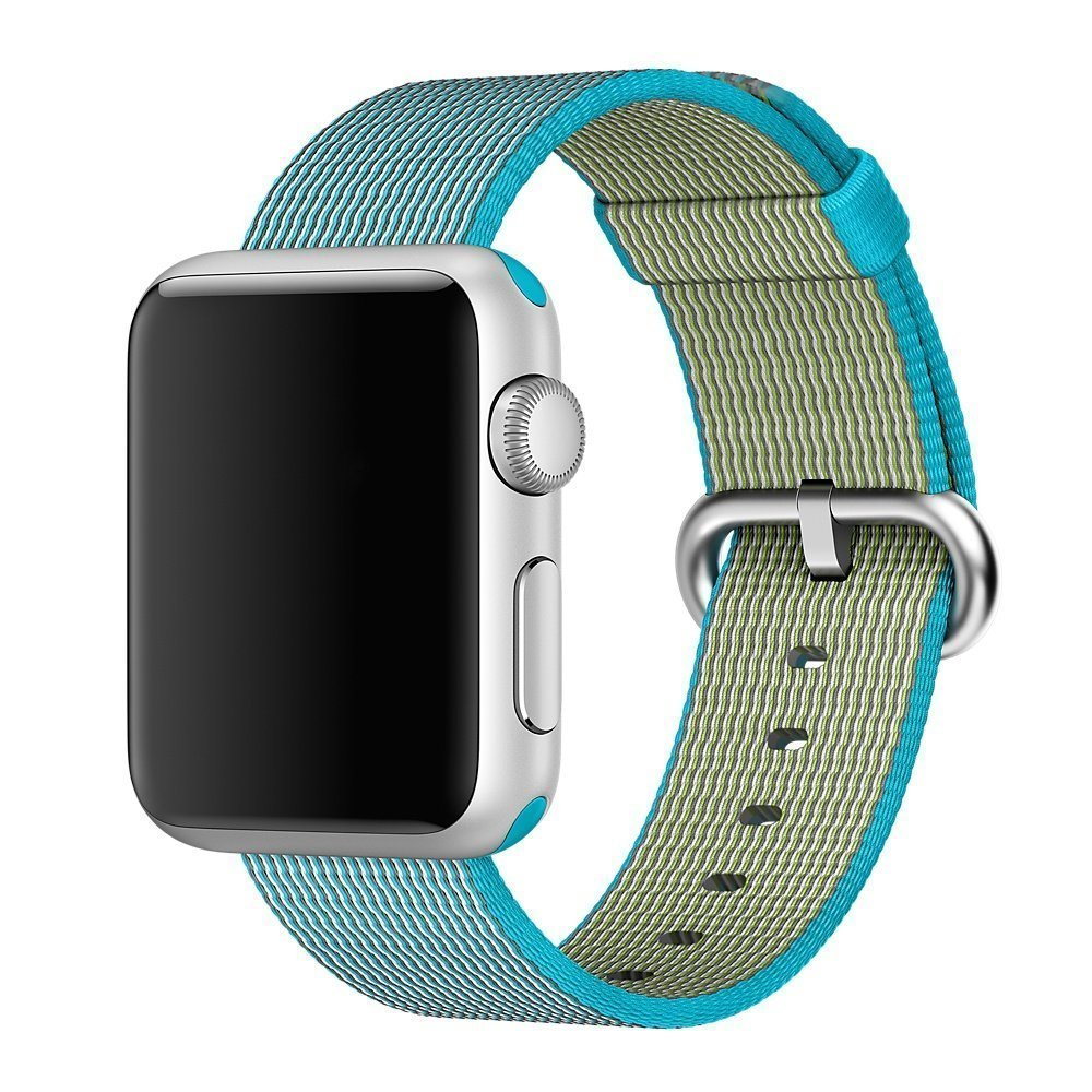 Watch Band, 42mm Apple iWatch Woven Nylon Fabric Replacement Strap Watch Bracelet Watchband Wrist Band for Apple iWatch (W-Blue)