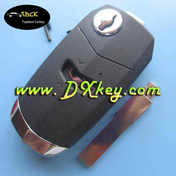 The cheapest price car key 1 buttons for fiat flip key shell black SIP22 blade