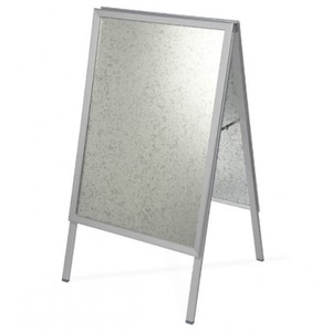 Advertising display stand silver aluminum clipable A frame board