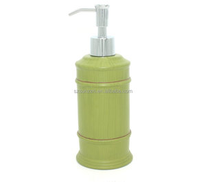 Resin Hotel Use Green Bamboo Shape Liquid Soap Dispenser