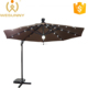 China Factory Supply Solar Power And LED Light Roma Parasol With Rotating Device