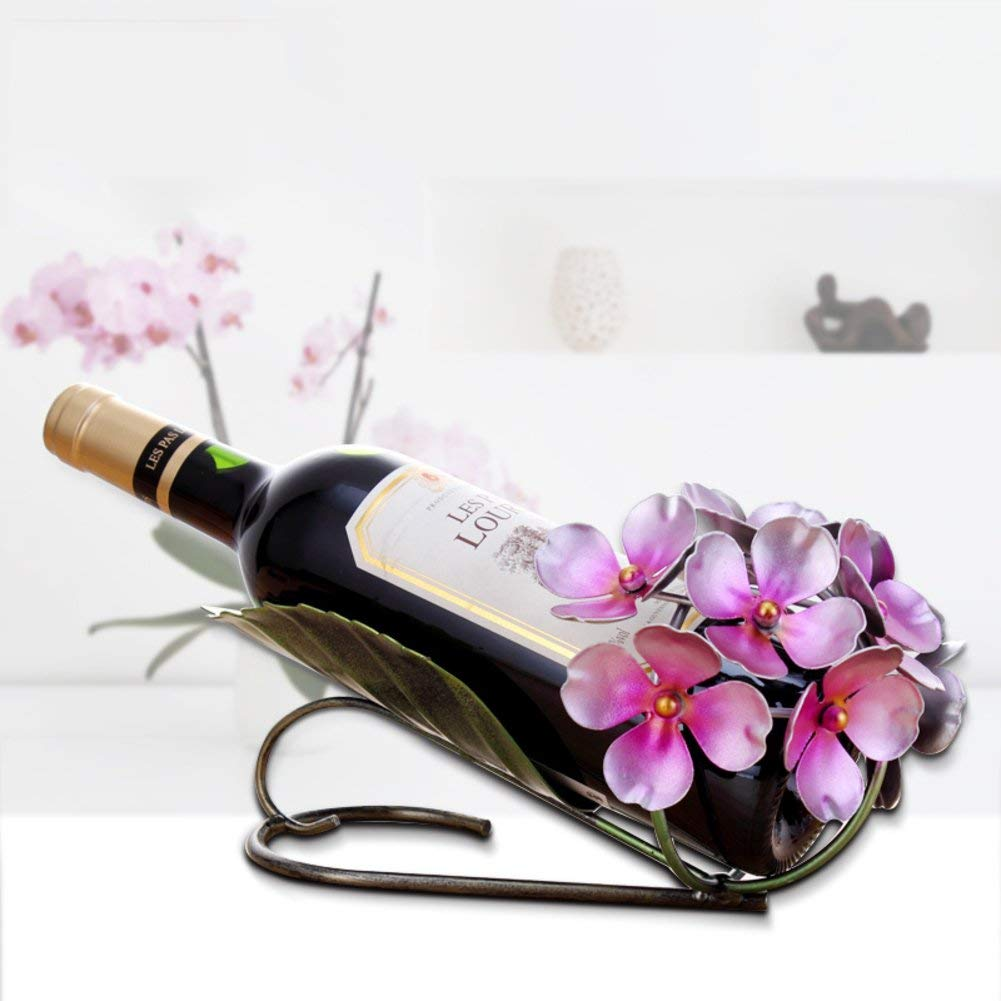 TY&WJ Creative Wine bottle holder European style [iron] [household] [restaurant] [decoration] Wine shelf Bar pub Wine display Interior decorations Wine rack-B