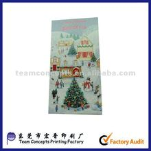 Fashion design paper glitter greeting cards