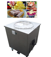 China Factory Ice Cream Making Cold Plate Roller Flat Pan Thailand instant Fry Fried Ice Cream Machine Ice Cream Roll Machine