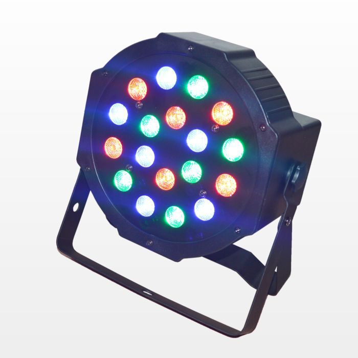 Free shipping china cheap rgb led stage lighting effect 18 3w high power led flat par light with dmx512 dj equipment