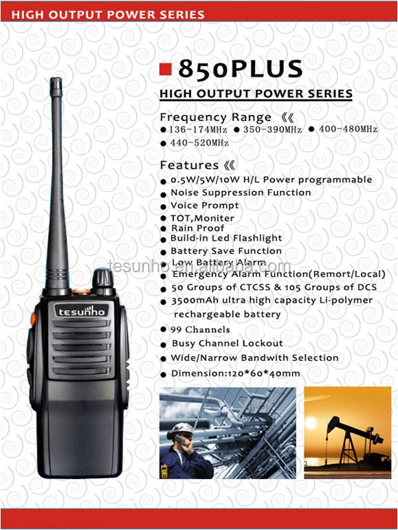 TESUNHO TH-850Plus 3500mAh Walkie Talkie From Quanzhou Manufacturers, View  two way radio, TESUNHO Product Details from Quanzhou Tesunho Electronics